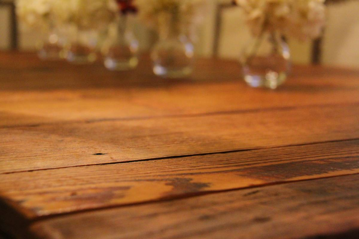 reclaimed wood extension table dining room rustic grain