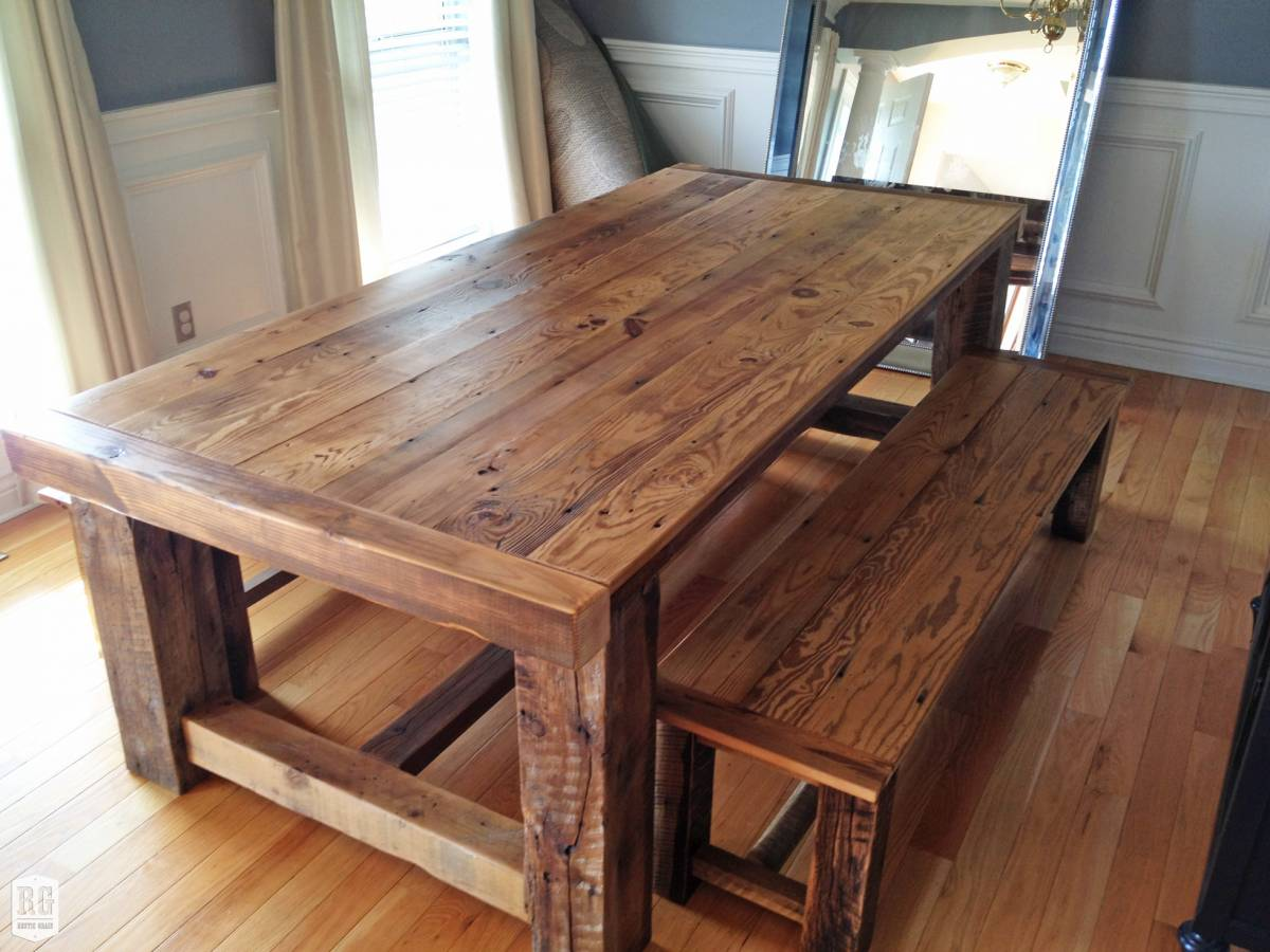 Farmhouse Style Dining Table And Chairs Images. Home Dining Room ...
