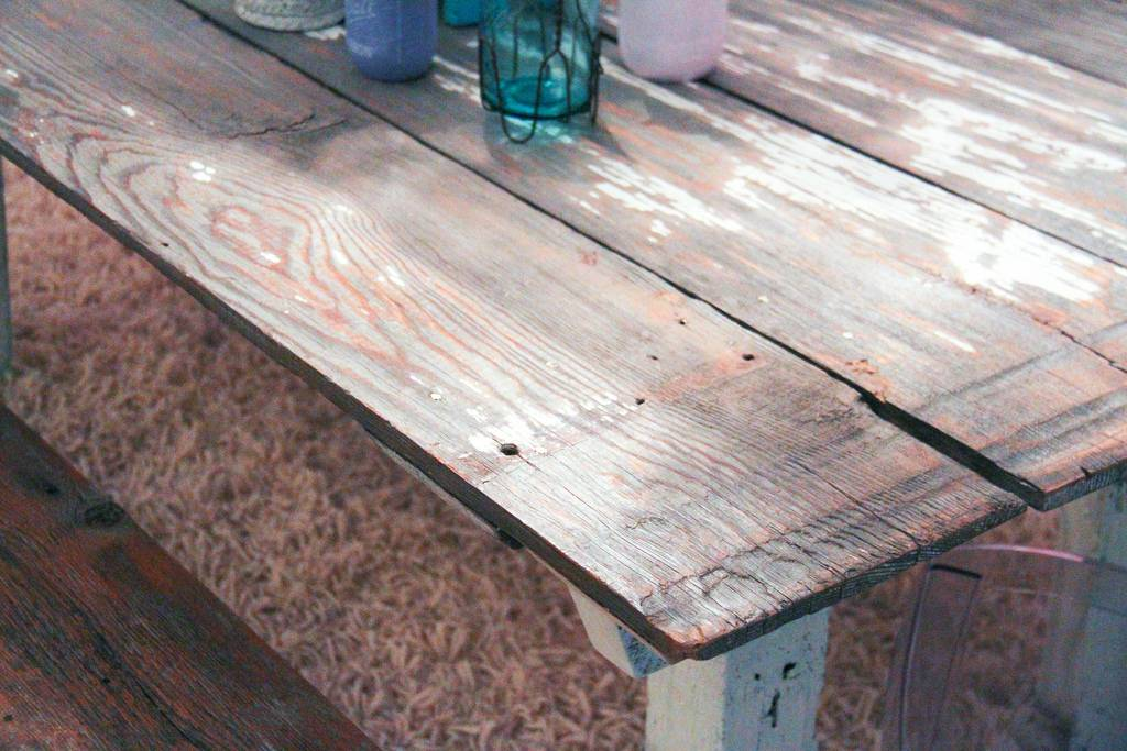 Shabby Chic Barn Door Table Bench Coffee And End Table