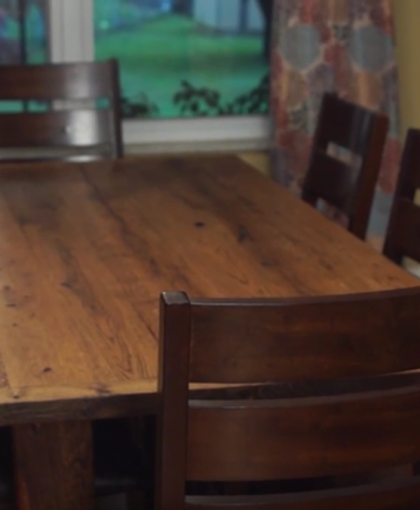 We Went With Rustic Grain Because Wanted Something That Had More Character Than The M Produced Tables You Might Find