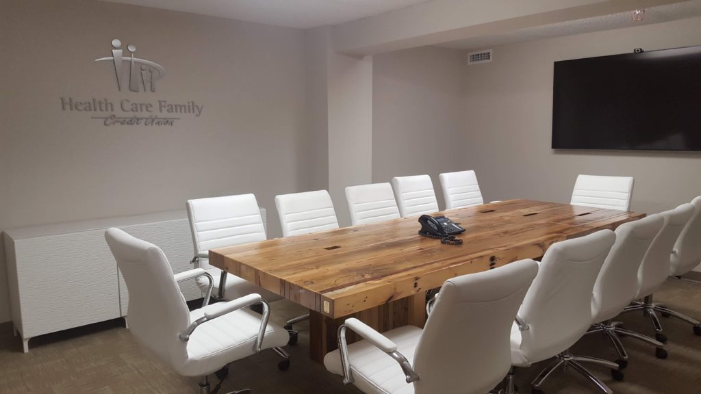 Conference Table in situ
