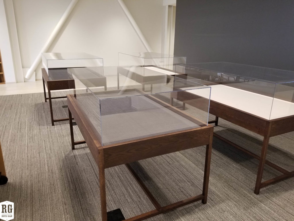 Library Tables and Display Cases at the Jesuit Archive & Research