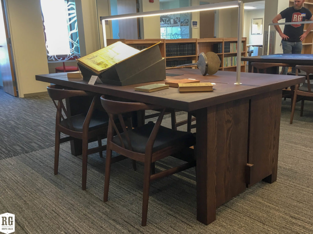 Library Tables and Display Cases at the Jesuit Archive